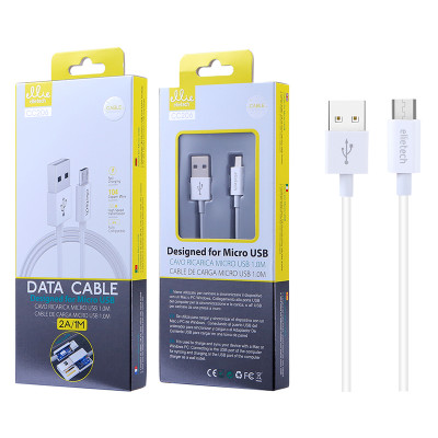 1m EllieTech Micro USB Cable White 2A High-Speed Android Charger Cable Compatible with Samsung Galaxy S7/S6/S5 J5/J3, Sony, LG,