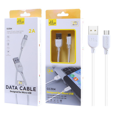 1m EllieTech Micro USB Cable White 2A Support Quick Charge Android Charger Cable Compatible with Samsung Galaxy S7/S6/S5 J5/J3,