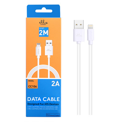 2m EllieTech iPhone Charger Cable White 2A High-Speed Compatible with iPhone 12/11/X/XS/XS Max/XR/8/8 Plus/7/7 Plus/6s/6s Plus/6