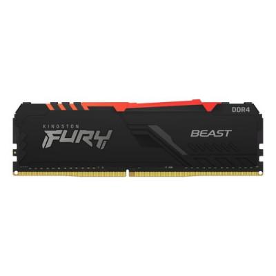 DDR4 KINGSTON 8Gb 3600Mhz - FURY BLACK RGB - CL17 - KF436C17BBA/8