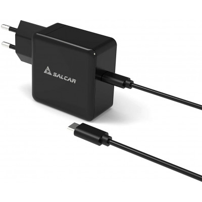 SALCAR 50W MacBook Charger, SALCAR Charger With 1.3m Charging Cable, Quick Charge iPhone Charger, Suitable for MacBook, Samsung