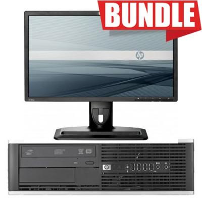 "BUNDLE PC HP Elite 8200 RABUNDLE26 SFF i5-2400 8GB SSD240GB W10P (MAR) + MONITOR HP RAZR22W 22"" LCD WIDE IPS 1920x1080 16:9"