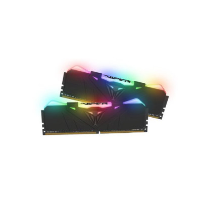 "KIT DDR4 PATRIOT ""VIPER RGB BLACK"" 32GB (2x16GB) 3600Mhz CL19 - RGB- DUAL CHANNEL AURA PVR432G360C8K"