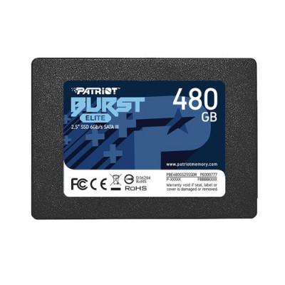 "SSD PATRIOT 480GB BURST ELITE 2.5"" SATA3 READ:450MB/WRITE:320 MB/S - PBE480GS25SSDR"