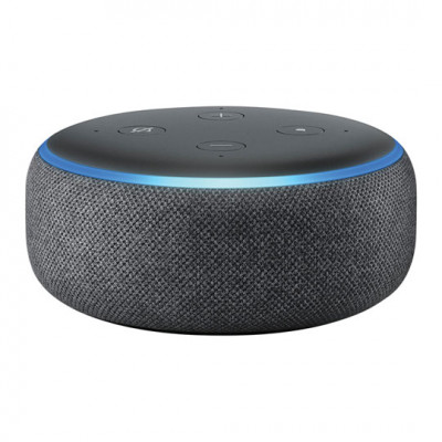 Amazon 3rd Generation Echo Dot Smart Speaker with Alexa - Charcoal Fabric