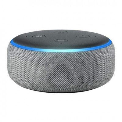 Amazon 3rd Generation Echo Dot Smart Speaker with Alexa - Heather Grey Fabric