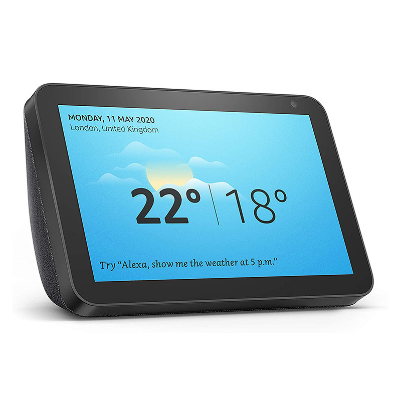 Echo Show 8 | Stay in touch with the help of Alexa Charcoal fabric