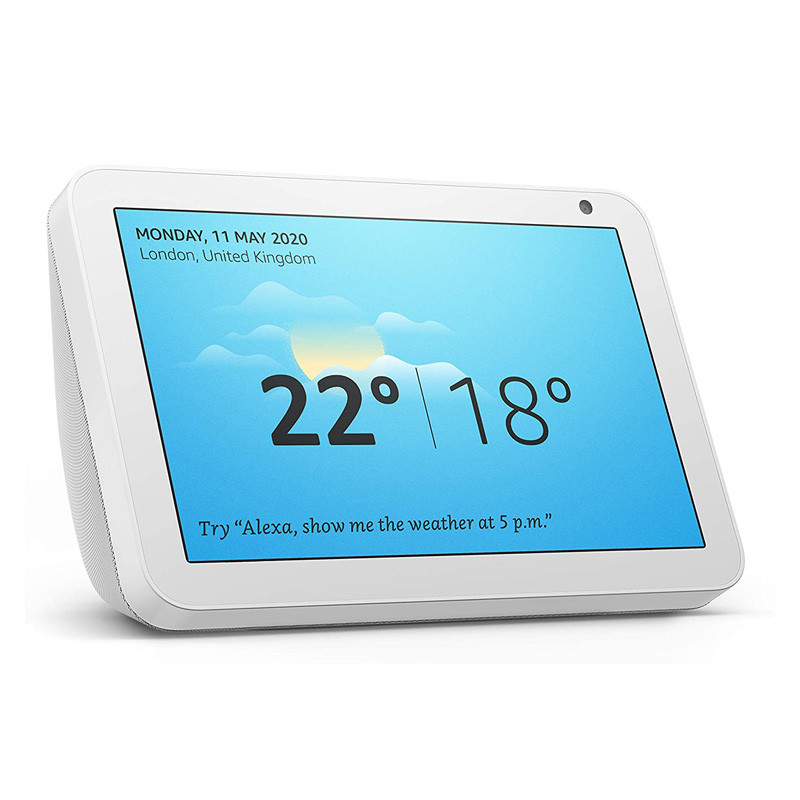 Echo Show 8   Stay in touch with the help of Alexa Sandstone fabric