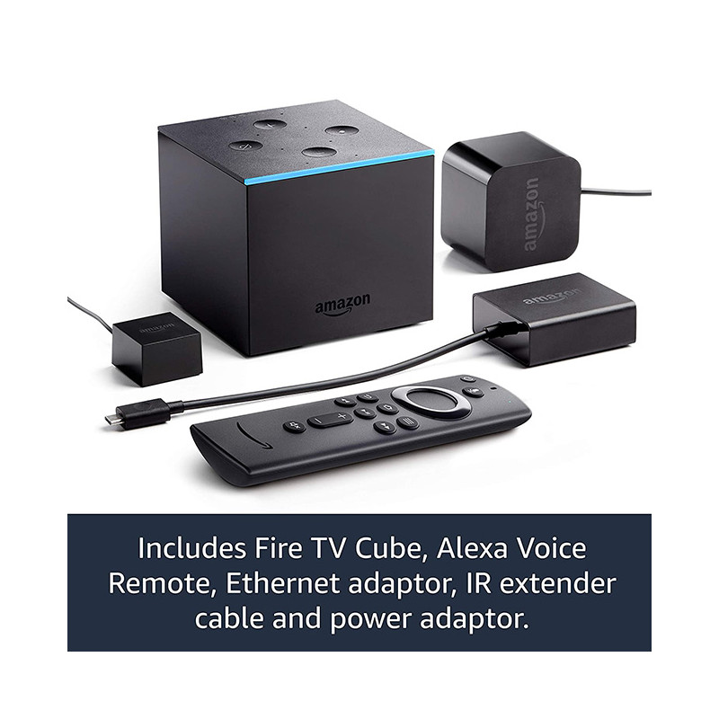 Fire TV Cube 4K Ultra HD with Alexa Voice Remote