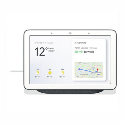 Google Nest Hub Hands-Free Smart Speaker with 7 Screen, Charcoal