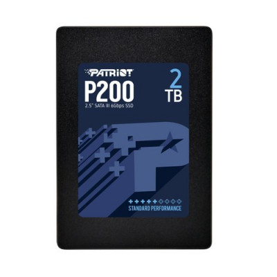 """SSD PATRIOT  2TB P200 2.5""""SATA3 READ:530MB/WRITE:460 MB/S - P200S2TB25 - GAR. 3 ANNI"""