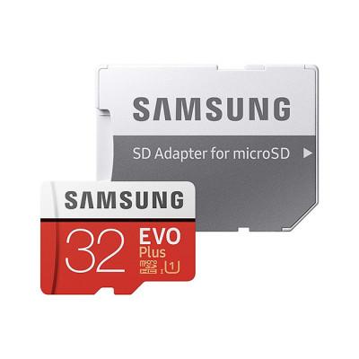 Samsung MB-MC32GA EVO Plus Card microSD 32 GB, UHS-I U1, with adapter SD