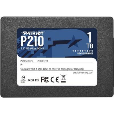 """SSD PATRIOT  1TB P210 2.5"""" SATA3 READ:510MB/WRITE:440 MB/S - P210S1TB25 - GAR. 3 ANNI"""