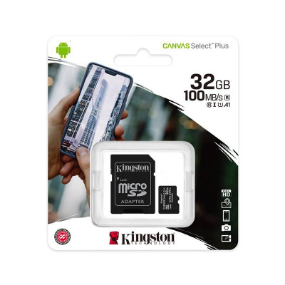 Kingston MICRO SD SDCS2/32GB CLASS 10 100MB/S with Adapter