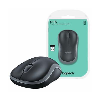 Logitech Wireless Optical Mouse M185 Grey