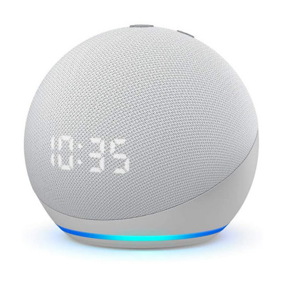 NEW Echo Dot (4th generation) | Smart speaker with clock and Alexa | Glacier White
