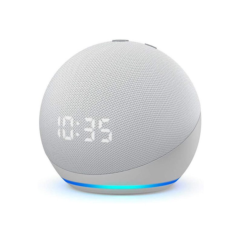 NEW Echo Dot (4th generation) | Smart speaker with clock and Alexa | Glacier White