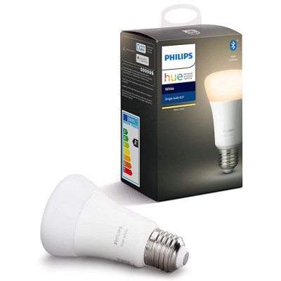Philips Hue White Single Bulb E27 LED, with Bluetooth, Works with Alexa and Google Assistant