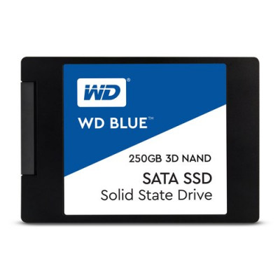 "SSD WD 250GB BLUE 2.5"" SATA3 Read:540MB/S-Write:500MB/S WDS250G2B0A"