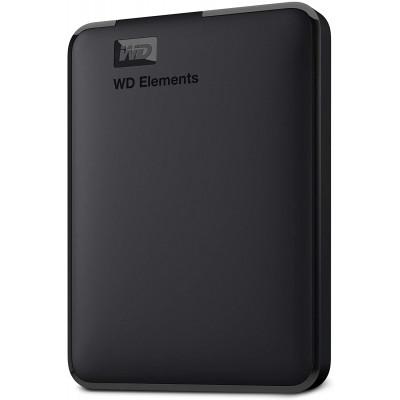 WD Elements Portable, External Hard Drive - 2 TB - USB 3.0 - WDBU6Y0020BBK