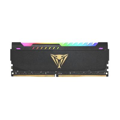 """KIT DDR4 PATRIOT """"VIPER STEEL RGB BLACK"""" 16GB (2x8GB) 3200Mhz CL18 - RGB- HS DUAL CHANNEL PVSR416G320C8K"""