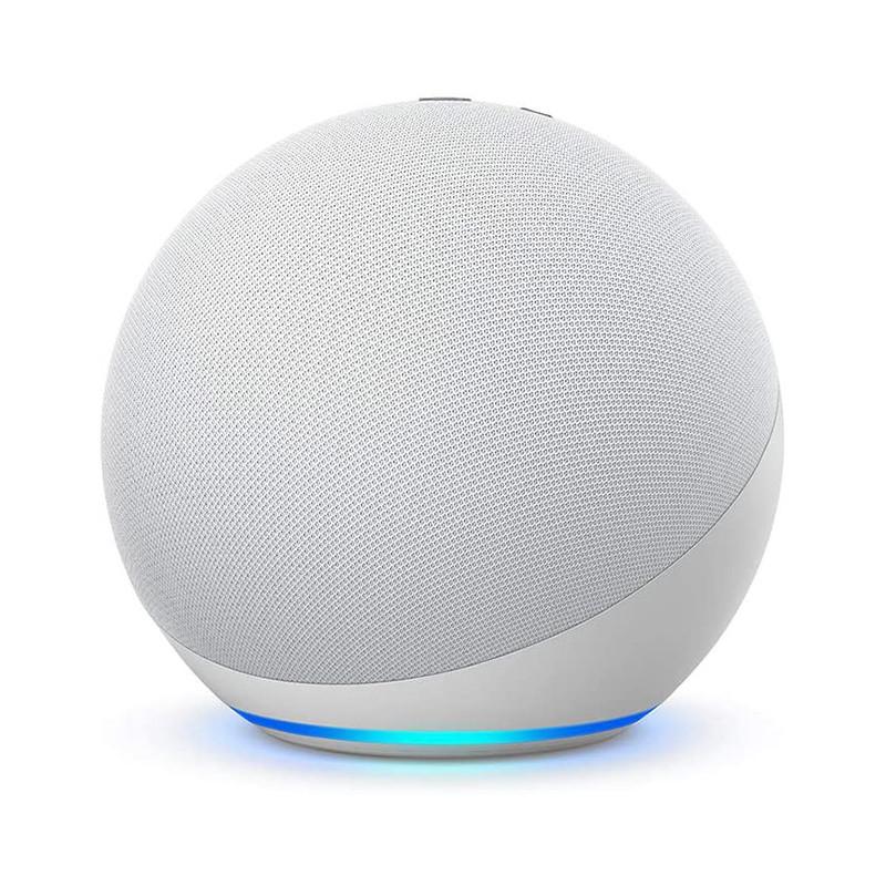 NEW Echo (4th generation) | With premium sound, smart home and Alexa | Glacier White