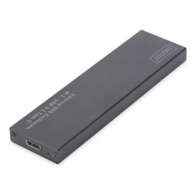 BOX ESTERNO DIGITUS USB 3.1 tipo C PER SSD M2 x i moduli: 80,60,42,30mm Alloggiamento in alluminio
