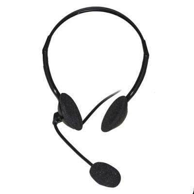 CUFFIA AUDIO CON MICROFONO LINK CON 1 CONNETTORE JACK 3,5 MM Lunghezza cavo 1,30 mt COLORE NERO