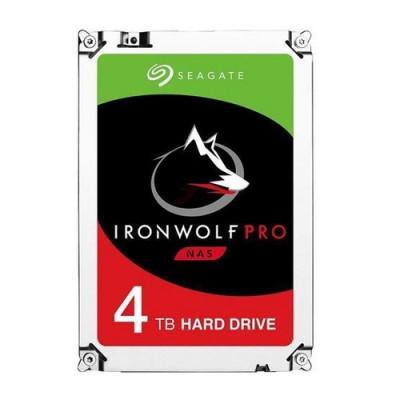 """HD SEAGATE  IRON WOLF PRO SATA3 4TB 3.5"""" 7200 RPM  128mb cache 24x7 - NAS HDD - ST4000NE001- Gar. 5 anni/2Y SERVIZIO RESCUE"""