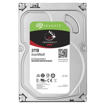 """HD SEAGATE IRON WOLF SATA3 3TB 3.5"""" 5900 RPM  64mb cache 24x7 - NAS HDD - ST3000VN007 - Gar. 3 anni"""