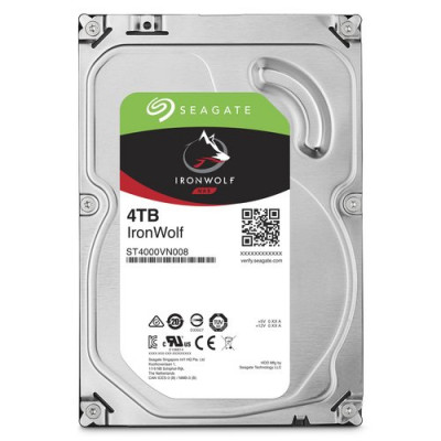 """HD SEAGATE IRON WOLF SATA3 4TB 3.5"""" 5900 RPM  64mb cache 24x7 - NAS HDD - ST4000VN008 - Gar. 3 anni"""