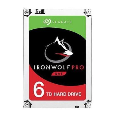 """HD SEAGATE  IRON WOLF PRO SATA3 6TB 3.5"""" 7200 RPM  256mb cache 24x7 - NAS HDD - ST6000NE000 - Gar. 5 anni/2Y SERVIZIO RESCUE"""