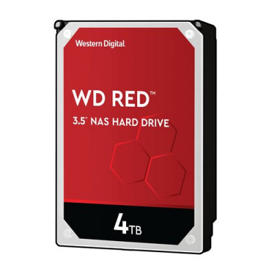 "HD WD SATA3 4TB 3.5"" RED INTELLIPOWER 64mb cache 24x7 - NAS HARD DRIVE - WD40EFAX"