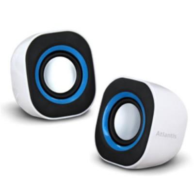 CASSE ATLANTIS SoundPower 410 Set di mini-casse stero amplificate per computer e portatile USB Bianco Lucido P003-C03-W
