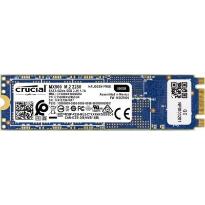 SSD CRUCIAL 500GB MX500 M.2(2280) SATA3 READ:560MB/S-WRITE:510MB/S CT500MX500SSD4