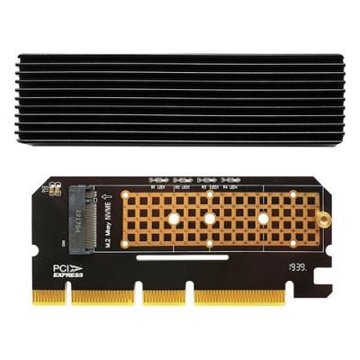 ADATTATORE ATLANTIS A06-M2-NVME-P16 x install. su PC un SSD M.2/NVME dim: 80,60,42,30mm su slot PCIe-4/8/16x