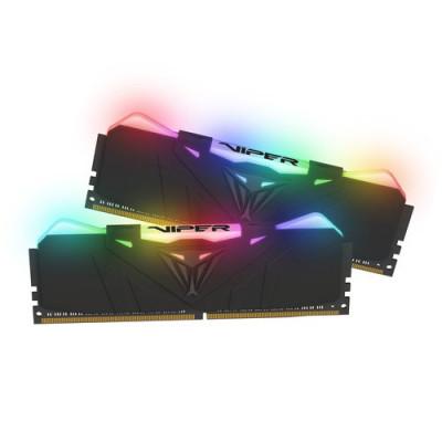 "KIT DDR4 PATRIOT ""VIPER RGB BLACK"" 16GB (2x8GB) 3600Mhz CL16 - RGB- DUAL CHANNEL AURA PVR416G360C8K"