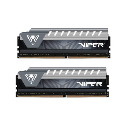 "KIT DDR4 PATRIOT 8GB (2x4GB) 2666Mhz ""VIPER V ELITE"" - CL16 GRY/GRY HS - PVE48G266C6KGY"