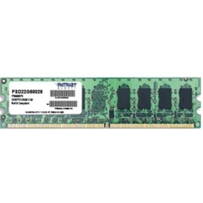 DDR 2 PATRIOT 2GB 800Mhz PC2-6400 - PSD22G80026